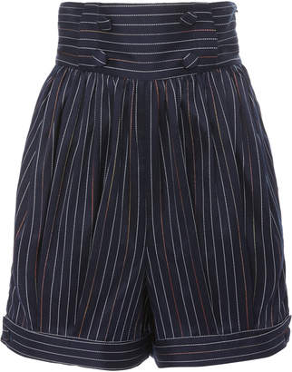 Rosie Assoulin Prince Of Cambridge Pinstriped Cotton-Blend Shorts