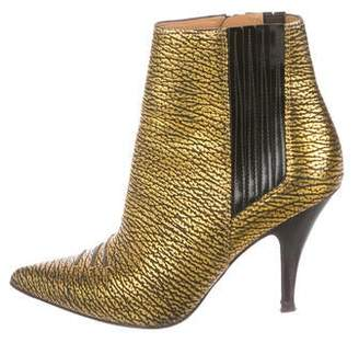 3.1 Phillip Lim Metallic Pointed-Toe Ankle Boots