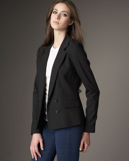 Vince Double-Breasted Cropped Jacket