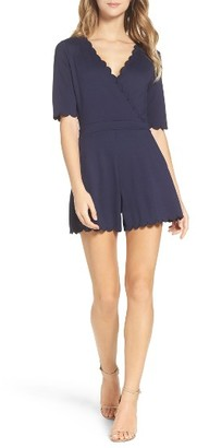 Women's French Connection 'Beau' Scalloped Romper $178 thestylecure.com