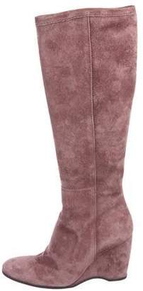 Hogan Suede Knee-High Boots