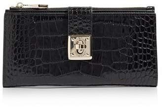 Karen Millen Croc-Effect Zip Wallet