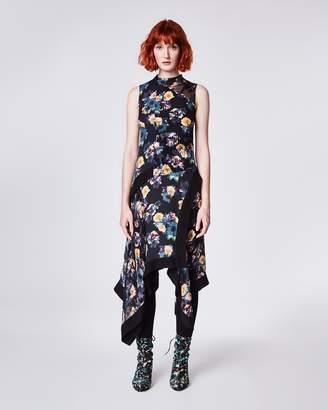 Nicole Miller Vintage Floral Burnout Sleeveless Dress