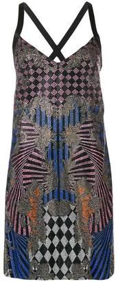 Versace crystal-embellished dress