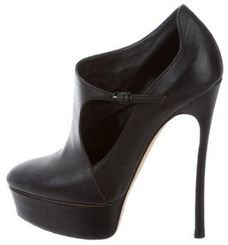Casadei Cutout Ankle Booties $150 thestylecure.com
