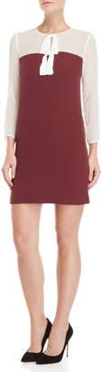 Atos Lombardini Bow Color Block Shift Dress