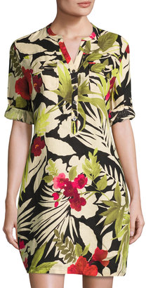Tommy Bahama Victoria Blooms Floral-Print Linen Dress, Multi $99 thestylecure.com