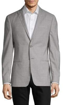 John Varvatos Neat Slim-Fit Wool Suit Jacket