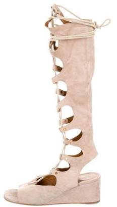 Chloé Suede Wedge Sandals