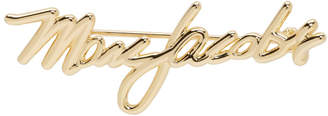 Marc Jacobs Gold Signature Logo Brooch