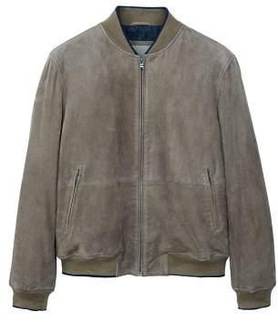 Mango man MANGO MAN Suede bomber jacket