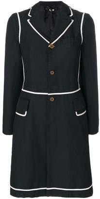 Comme des Garcons two-tone button coat