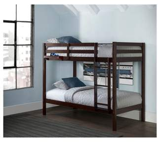 Hillsdale Furniture Twin Over Twin Caspian Bunk Bed with Hanging Nightstand