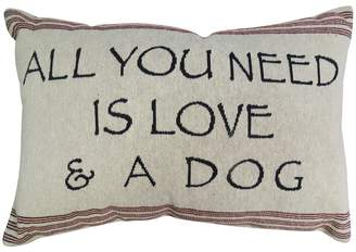 B. Smith Park ''Love and Dog'' Throw Pillow