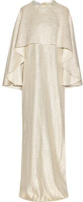 Oscar de la Renta - Layered Embellished Metallic Silk-blend Gown - Gold $4,490 thestylecure.com