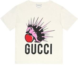 Gucci Kids Printed cotton-jersey T-shirt