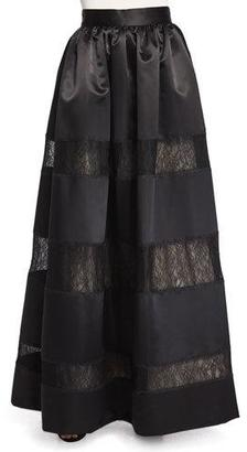 Alice + Olivia Prima Lace-Panel Ball Skirt $698 thestylecure.com