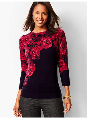 Talbots Audrey Cashmere Sweater - Floral