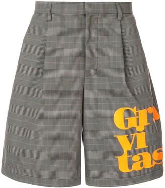 Kolor slogan plaid tailored shorts