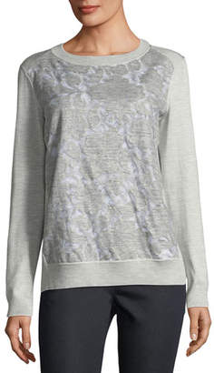 Lafayette 148 New York Aralynn Floral Fil Coupe Jersey Top