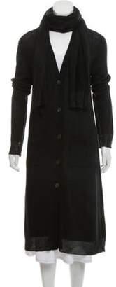 Donna Karan Longline Button-Up Cardigan Black Longline Button-Up Cardigan