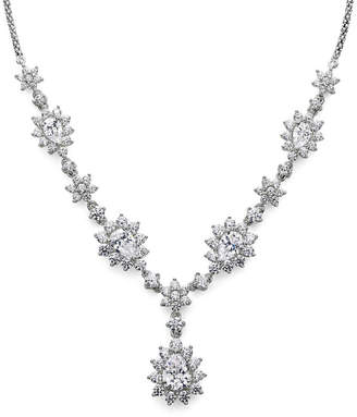 JCPenney FINE JEWELRY DiamonArt Cubic Zirconia Sterling Silver Cluster Drop Necklace