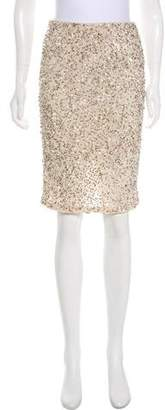 Alice + Olivia Embellished Knee-Length Skirt