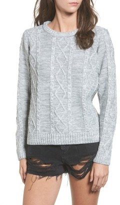 Women's Obey Basel Cable Knit Sweater $66 thestylecure.com
