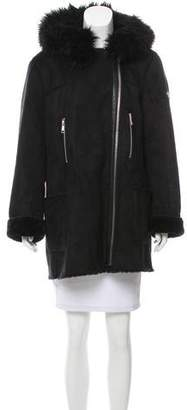 Calvin Klein Hooded Zip-Up Coat