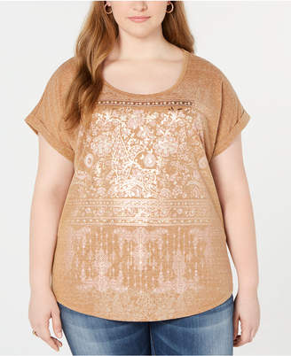 Style&Co. Style & Co Plus Size Graphic-Print T-Shirt