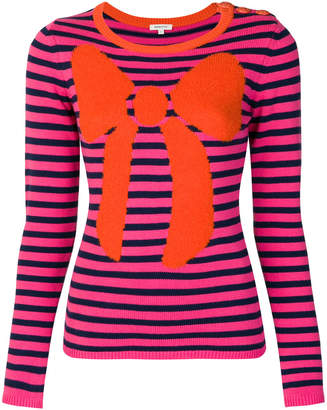 Manoush striped bow jumper