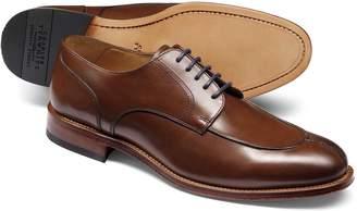 Charles Tyrwhitt Brown Split Toe Derby Shoe Size 7