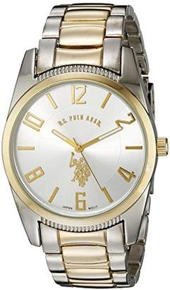 U.S. Polo Assn. Classic Men's USC80044 Two-Tone Dial Metal Link Watch