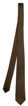 Givenchy Logo Jacquard Silk Faille Tie - Mens - Brown Multi