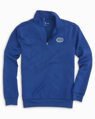 Southern Tide Gameday Performance 1/4 Zip Pullover - University of Florida