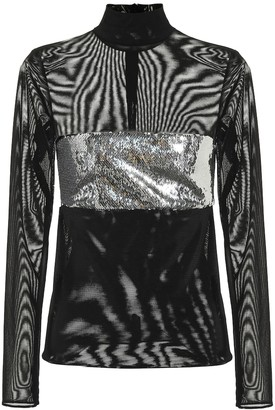 Galvan Chrome sequined top