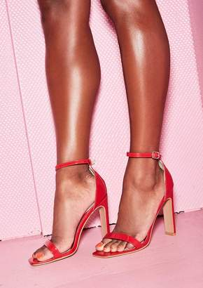Missy Empire Missyempire Ashlee Red Patent Squared Heels