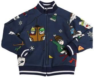 Dolce & Gabbana Skiing Designer Zip-Up Cotton Sweatshirt