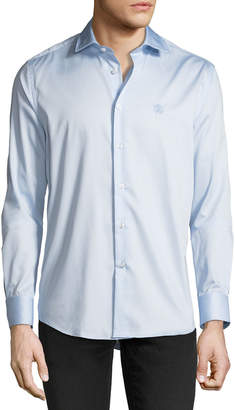 Roberto Cavalli Men's Comfort-Fit Dress Shirt, Light Blue