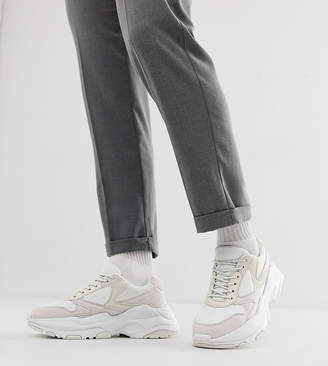 Asos Design DESIGN sneakers in white mesh with chunky sole