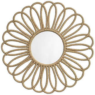 "Jamie Young Jute 36"" Flower Wall Mirror - Natural"