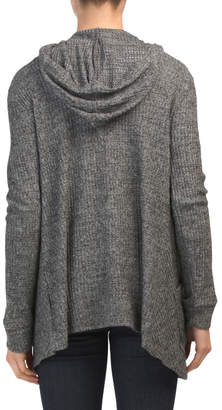 Cozy Knit Cardigan Hoodie With 2 Pockets