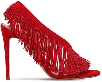 Aquazzura 105mm Wild Fringed Suede Sandals