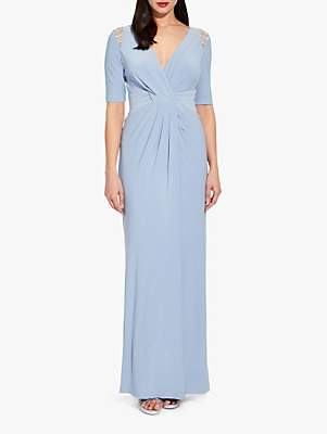 Adrianna Papell Jersey Maxi Dress, Ice Blue