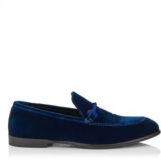 Jimmy Choo MARTI Black Velvet Loafers