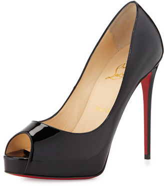 Christian Louboutin New Very Prive Patent Red Sole Pump $795 thestylecure.com