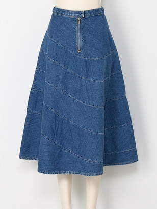 Anrealage (アンリアレイジ) - ANREALAGE SPIRAL DENIM SKIRT アンリアレイジ スカート