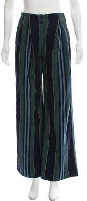 Ace&Jig Striped High-Rise Wide-Leg Pants