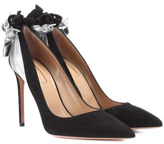 Aquazzura Fire 105 suede pumps