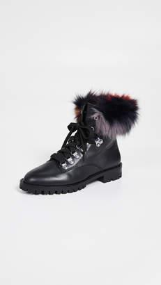 Rebecca Minkoff Jaylin Fur Combat Boots